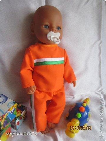 Одежда для кукол BABY BORN.Подходит для кукол-пупсов ростом 40-43см.Вся одежда выполнена вручную из натуральных качественных тканей!!!Каждая девочка будет рада такому подарку! фото 19