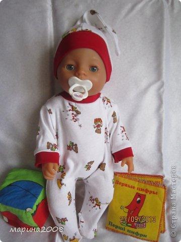 Одежда для кукол BABY BORN.Подходит для кукол-пупсов ростом 40-43см.Вся одежда выполнена вручную из натуральных качественных тканей!!!Каждая девочка будет рада такому подарку! фото 23