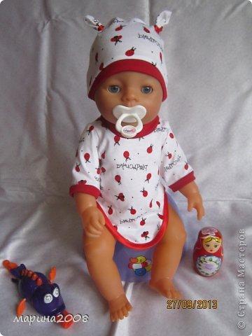 Одежда для кукол BABY BORN.Подходит для кукол-пупсов ростом 40-43см.Вся одежда выполнена вручную из натуральных качественных тканей!!!Каждая девочка будет рада такому подарку! фото 26