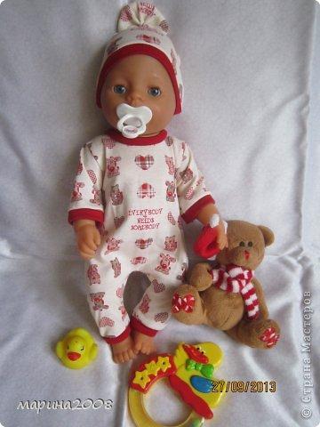 Одежда для кукол BABY BORN.Подходит для кукол-пупсов ростом 40-43см.Вся одежда выполнена вручную из натуральных качественных тканей!!!Каждая девочка будет рада такому подарку! фото 25