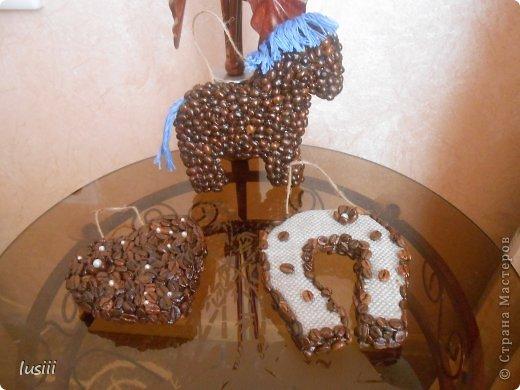 Здравствуйте!!! Сегодня у меня три кофейные работы. Лошадка символ будущего года,сердце и подкова. Приятного просмотра!!! фото 5