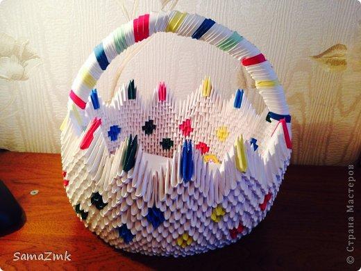 Корзина из оригами фото 1