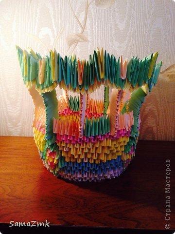 Ваза из оригами фото 1