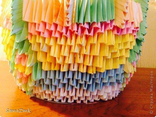 Ваза из оригами фото 3