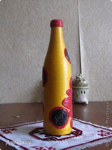 Здравствуйте еще раз:-) Эту бутылочку я наваяла под впечатлением группы в соц. сети. которую сама и веду. Так увлеклась солнечным настроением в пасмурную погоду, что вдохновила сама себя:-) фото 4