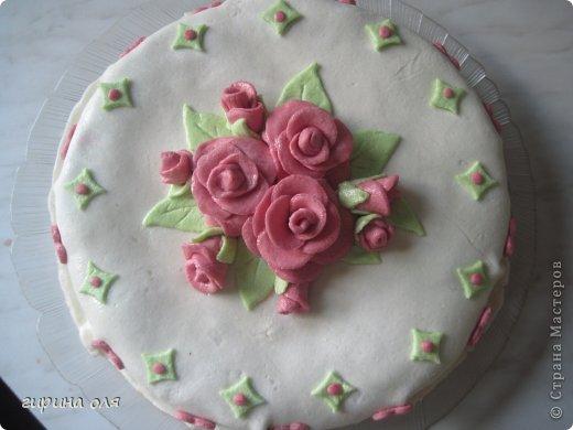 Бисквитный торт с мастикой своими руками