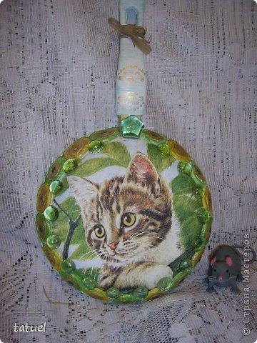 А знаете ли вы, что можно  подарить любимому коту на день рождения?  Скорее всего только лакомство. И в придачу еще сковородочку, сделанную с любовью к любимому Тришке. фото 1