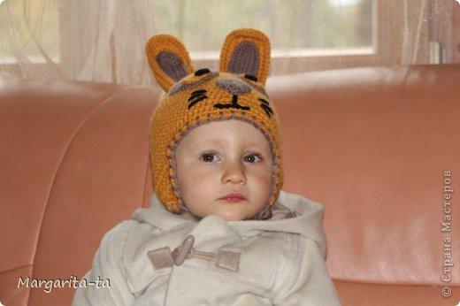 Комплектик Зайчик в/о крючком и спицами+ МК шапочки фото 6