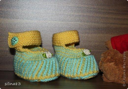 Пинетки новорожденному фото 3