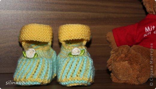 Пинетки новорожденному фото 2