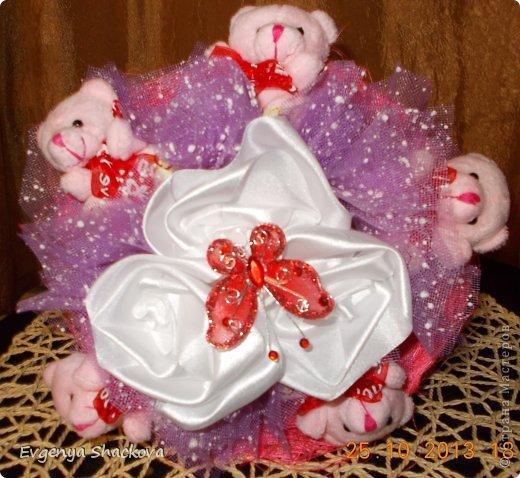 Вторым тортом из конфет я осталась довольна!)))Очень старалась)))Надеюсь вам тоже понравится))) фото 4