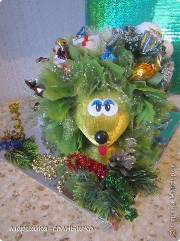 новогодний ёжик фото 1