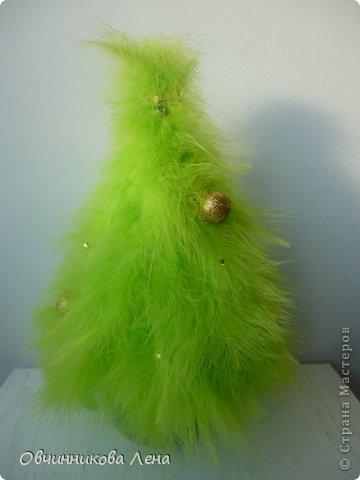 Такая пушистая ёлочка из перьев у меня готова к встрече нового года!