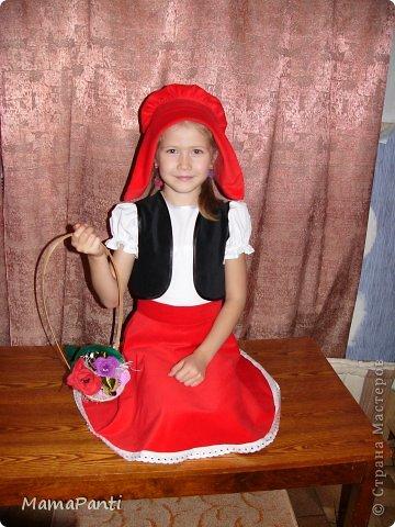 Костюм красной шапочки для девочки сшить своими руками 26