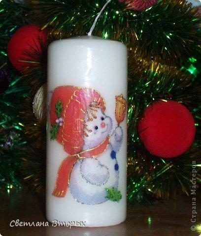 Самая первая моя свечка в декупаже. фото 8