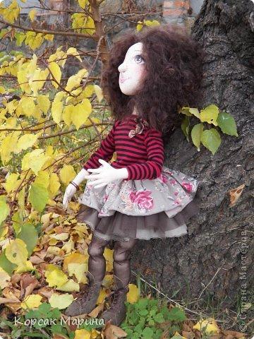 Куколка выполнена из бязи . Ручки ,ножки двигаются .Пальчики сгибаются. Рост 55 см. фото 1
