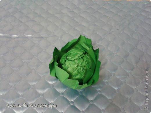 Для праздника осени нужно было сделать капусту....в дальнейшем в нее между листочков будут вставлены загадки...дети будут по одной вытягивать и отгадывать!!!) фото 7