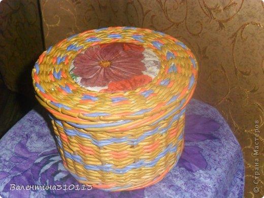 Здравствуйте жители Страны Мастеров!Хочу показать вам свои последние плетёнки.Спасибо огромное Наталье за МК -УРА!я научилась плести ажурные корзинки!!!!!!!! фото 14