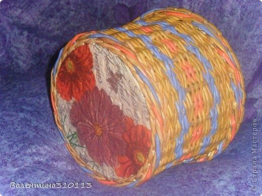 Здравствуйте жители Страны Мастеров!Хочу показать вам свои последние плетёнки.Спасибо огромное Наталье за МК -УРА!я научилась плести ажурные корзинки!!!!!!!! фото 15