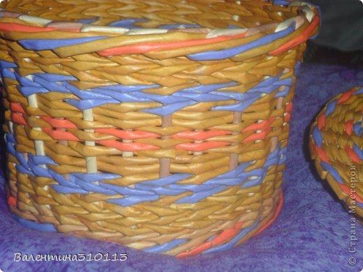 Здравствуйте жители Страны Мастеров!Хочу показать вам свои последние плетёнки.Спасибо огромное Наталье за МК -УРА!я научилась плести ажурные корзинки!!!!!!!! фото 17