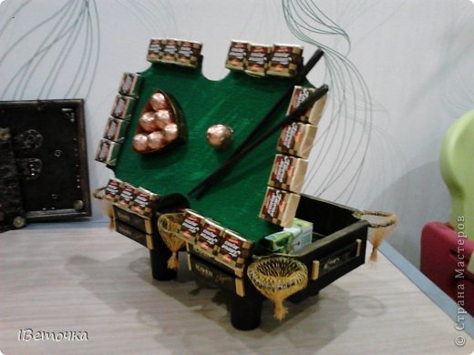 По случаю юбилея у брата соорудила такой столик. может кому-то будет интересен мой вариант украшения фото 9