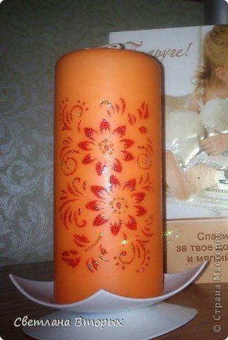 Самая первая моя свечка в декупаже. фото 11