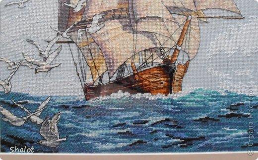 крестом Вышивка Корабль