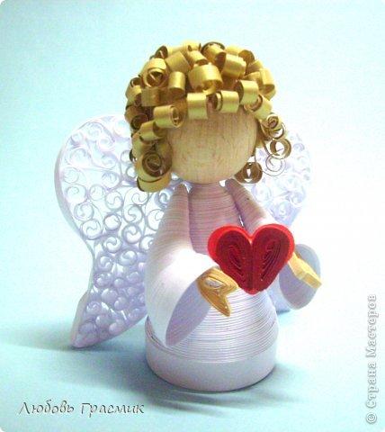 Поделка изделие Квиллинг Квиллинг Ангелы Бумага фото 1