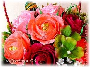 Корзина роз фото 6
