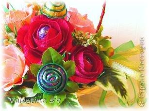 Корзина роз фото 8