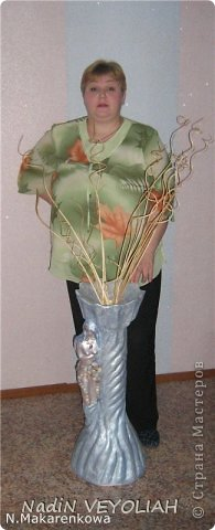 Добрый вечер,мои дорогие и любимые жители Страны Мастеров! Сегодня хочу поделиться своей напольной вазой и поподробней опишу ход работы...Фотографий будет очень много) фото 23
