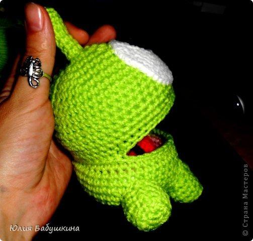 Лягушонок Cut The Rope. МК повязанию. фото 24
