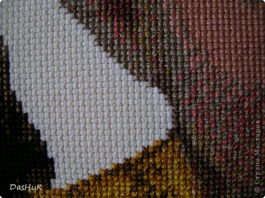 Самая оригинальная вышивка в нашей коллекции! Схема была сделана в программе Pattern Maker по фотографии, картина вышита моей мамой-злато ручкой)) фото 6