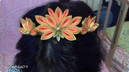 У дочки в саду осенний бал, нужно украшение на волосы, короной это назвать трудно, но на голове смотрится не плохо. фото 3