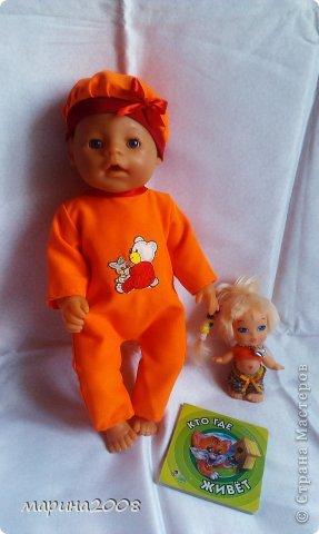 Одежда для кукол BABY BORN.Подходит для кукол-пупсов ростом 40-43см.Вся одежда выполнена вручную из натуральных качественных тканей!!!Каждая девочка будет рада такому подарку! фото 38