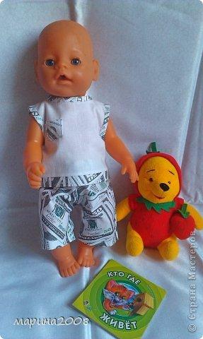 Одежда для кукол BABY BORN.Подходит для кукол-пупсов ростом 40-43см.Вся одежда выполнена вручную из натуральных качественных тканей!!!Каждая девочка будет рада такому подарку! фото 39