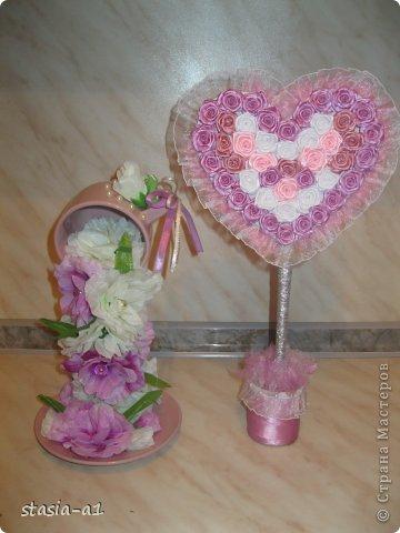 Доброго времени суток мастера и мастерицы, вот немного натворилось за выходные.. это цветочная чашечка и сердце. фото 1