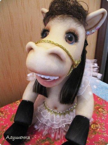 Лошадка изготовлена по МК Леночки Ауловой. фото 2