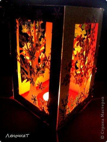 Вот  такой вот бумажный  мобильчик  получился  из  дырокольностей. И красиво,  и познавательно. А  если  внутрь  еще  и махонькую  свечечку  поставить,  так  вообще  здорово  смотреться будет! Словно  вид  из  окна!!!! фото 7