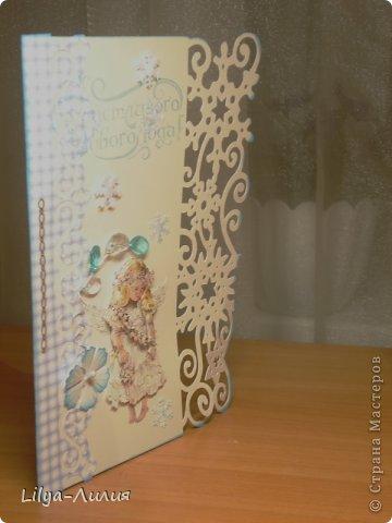 вот открыточка с тильдой (раскрашена в ручную) фото 8