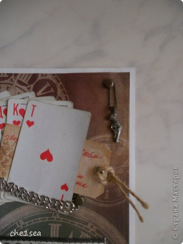 Открытка сделана мужу на День рождения (он любитель покера) фото 2