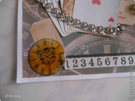 Открытка сделана мужу на День рождения (он любитель покера) фото 3