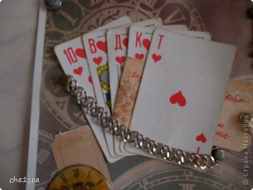 Открытка сделана мужу на День рождения (он любитель покера) фото 4
