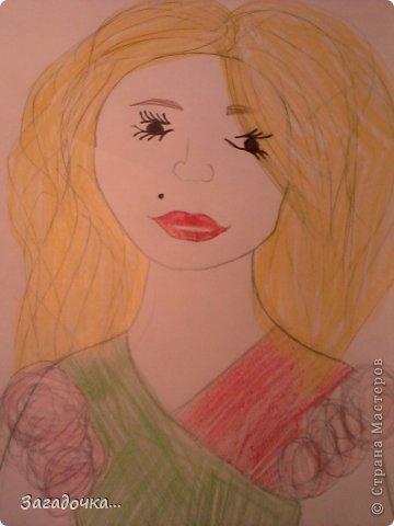 Это моя первая работа и я очень волнуюсь за ваши отзывы...                                                          рисуем голову девушки, что бы она была не квадратная, но и не такая круглая, точнее в форме яйца. фото 5