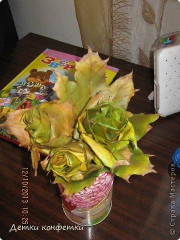 На осень связали беретик и шарфик фото 6