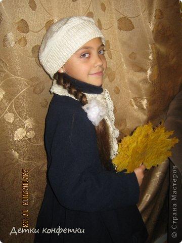 На осень связали беретик и шарфик фото 1