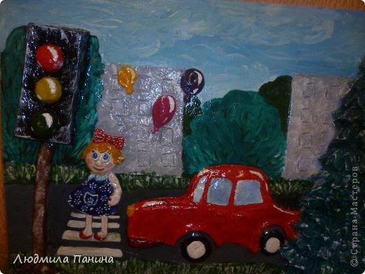 """здравствуйте,дорогие мастера и мастерицы  !  наша с сыном поделка для конкурса в школе""""дорога глазами детей"""". фото 1"""