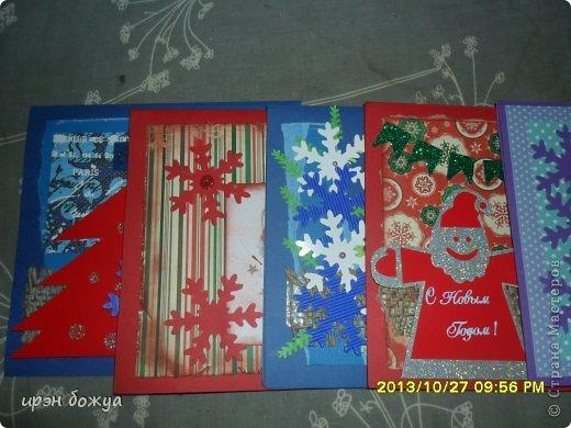 Здравствуйте мастерицы СМ! Второй месяц потихоньку делаю новогодние открытки. https://stranamasterov.ru/node/634337 фото 2