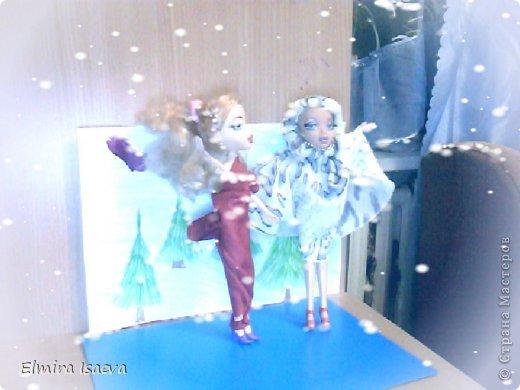 Вот мои куколки  1)Снежная королева 2)Её подруга королева лета которая приехала из жаркой пустыни к своей сестре на Новый год фото 2