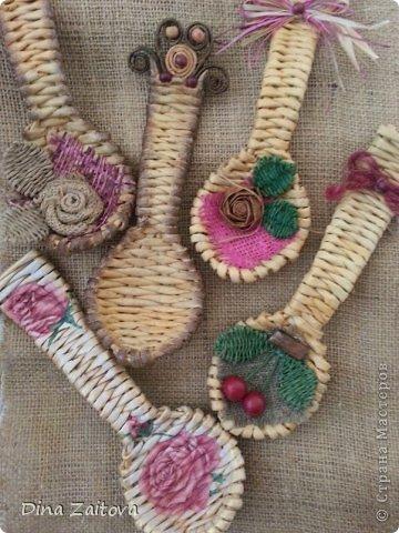 Мастер-класс Поделка изделие Плетение Продолжаем тему с ложками и обещанный МК Трубочки бумажные фото 1